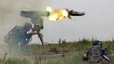 صورة استهداف جيب عسكري إسرائيلي بصاروخ كورنيت