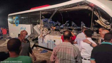 صورة بالصور.. ارتفاع حصيلة حادث الوادي الجديد المروع بمصر