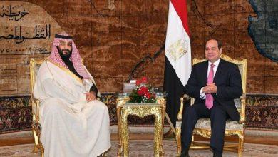صورة الرئيس المصري: أمن السعودية جزء من أمن مصر القومي