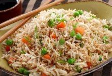 صورة طبق الأرز الصيني بالخضار