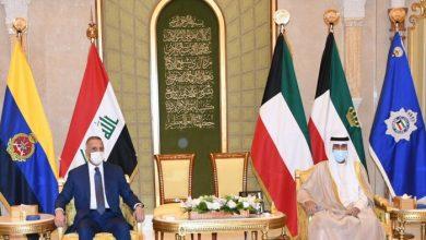 صورة أمير الكويت يستقبل رئيس الوزراء العراقي ويؤكد دعم بغداد