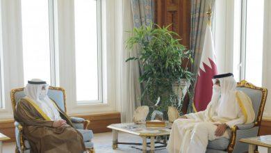 صورة أمير قطر يبحث مع وزير خارجية الكويت تطورات الأحداث إقليميا ودوليا
