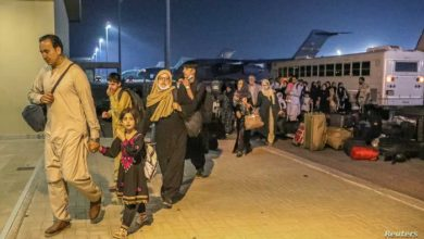 صورة البنتاجون: نعمل على تحسين ظروف اللاجئين الأفغان بقاعدة العديد في قطر