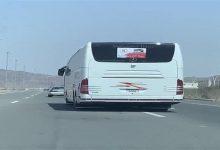 صورة المرور يتفاعل مع فيديو رصد تنقل قائد باص بين المسارات بسرعة عالية بمكة