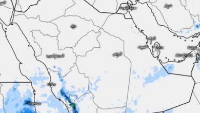 صورة المسند يكشف تفاصيل نشاط الحالة المطرية على هذه المناطق بالمملكة اليوم