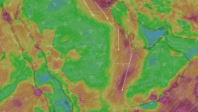 صورة المسند يكشف توقعاته لحالة الطقس اليوم: سحب ماطرة ورياح جافة على هذه المناطق