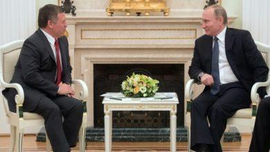 صورة بوتين يلتقي العاهل الأردني في روسيا الإثنين