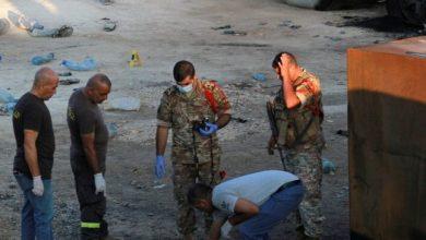 صورة بيان من الجيش اللبناني بشأن انفجار عكار بعد ارتفاع عدد القتلى إلى 22 شخصاً