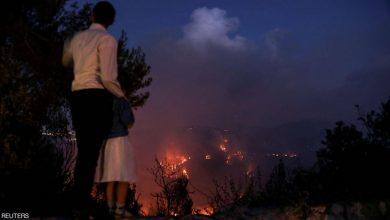صورة تصاعُد سُحب الدخان فوق القدس وإخلاء تجمعات سكنية عدة بسبب حريق غابات