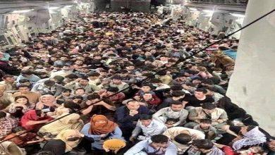 صورة شاهد أول صورة من داخل طائرة إجلاء الأفغان بمطار كابل هرباً من طالبان