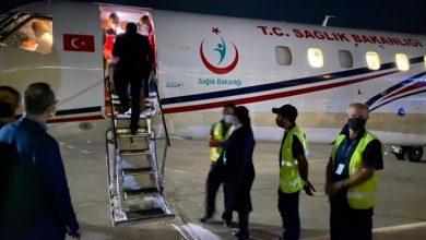 صورة طائرة مساعدات تركية تصل إلى لبنان لإغاثة مصابي عكار