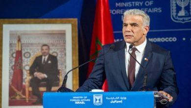 صورة لابيد: إسرائيل والمغرب تتبادلان سفارتين خلال عدة أشهر