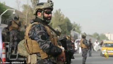 صورة لن تعرفهم.. شاهد مقاتلو طالبان ينتشرون في كابل وهم يرتدون ملابس الكوماندوز الأمريكي ويحملون أسلحتهم