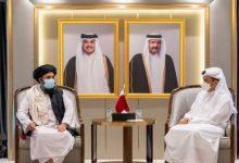 صورة وزير خارجية قطر يجتمع بوفد من طالبان لبحث التوصل لتسوية شاملة