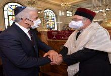 صورة يهود يتوجهون بالدعاء لعاهل المغرب بحضور وزير خارجية إسرائيل (فيديو)