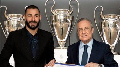 صورة رسميًا.. ريال مدريد يعلن تجديد عقد مهاجمه كريم بنزيما